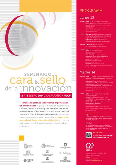 Afiche Seminario Cara & Sello de la Innovación